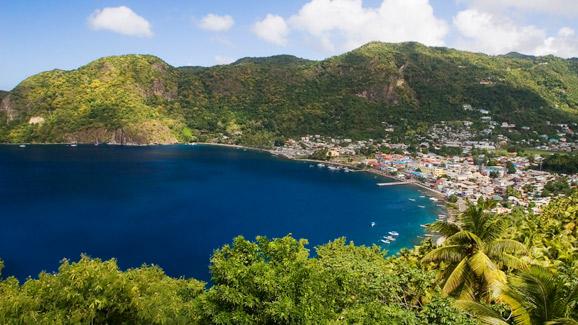Beach in St .Lucia