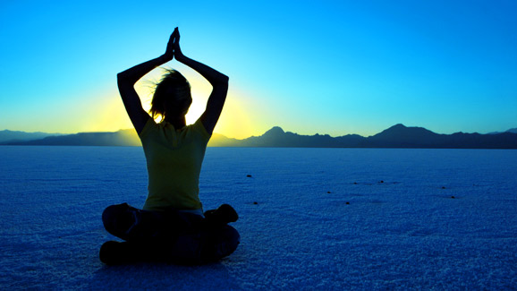 Yoga Pose In the Desert