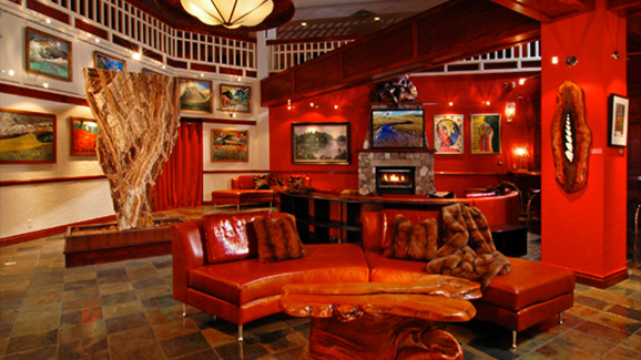 Reception area of the Beaver Creek Lodge in Colorado