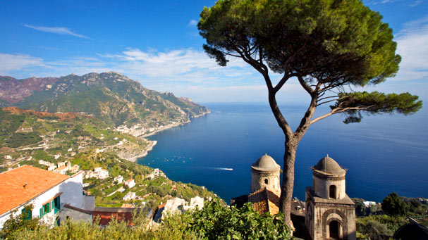 Sweeping view of the Amalfi Coast from Ravello