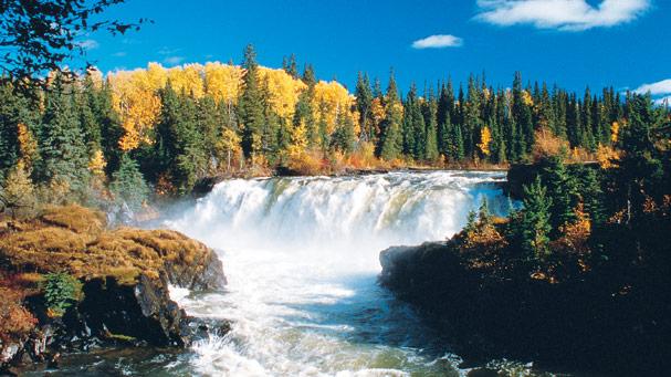 Pisew Falls in Manitoba