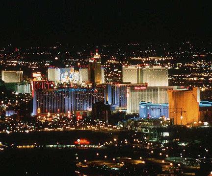 Las Vegas Aerial View at Night