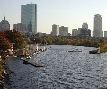 Boston's Charles River in Autumn