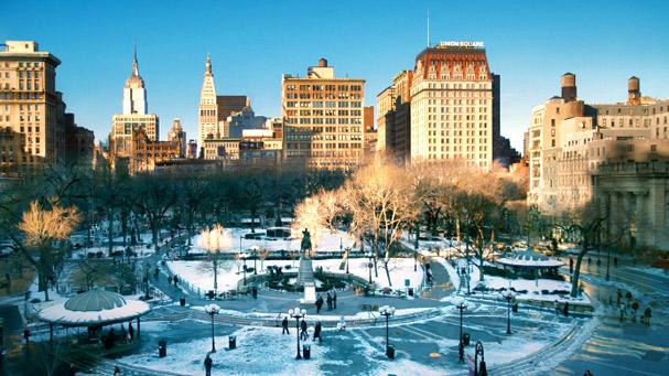 Snowy Union Square