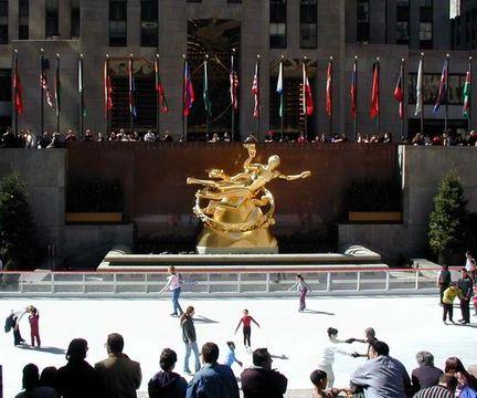 New York City's Rockefeller Center Skating Rink