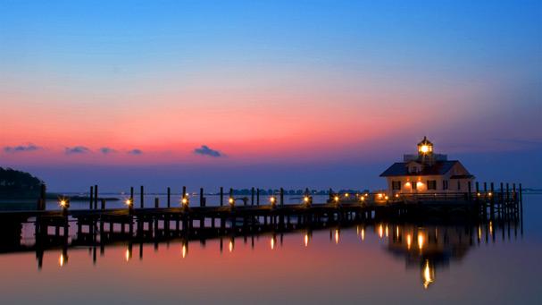 manteo waterfront sunrise