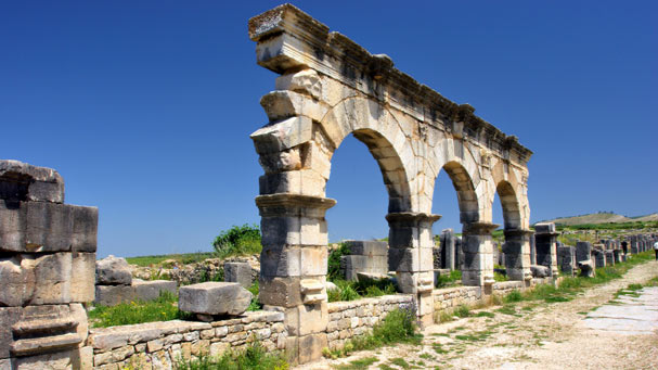 Morocco Volubilis Arches
