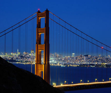 Goldengate and the City At Night
