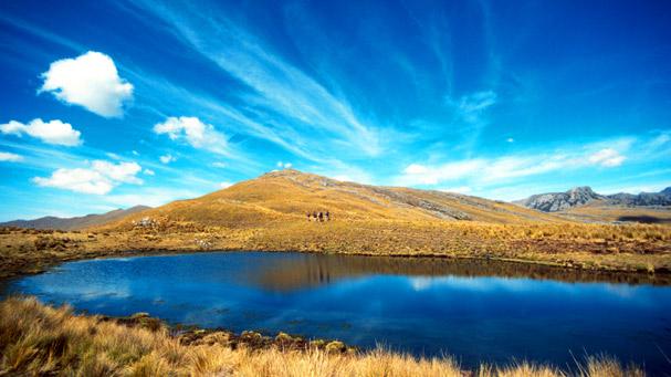 blue lake in peru