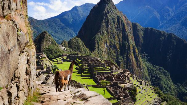 machu picchu from the inca trail