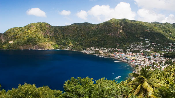 Soufriere Caribbean Habor town