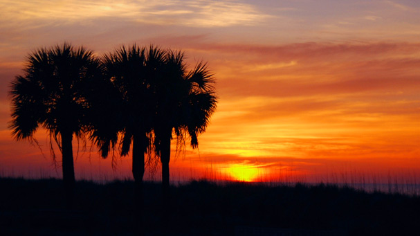 southern shore sunrise at myrtle beach