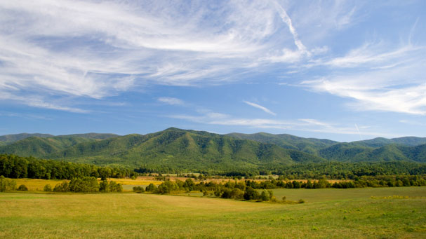 Mountains and meadows in North Carolina